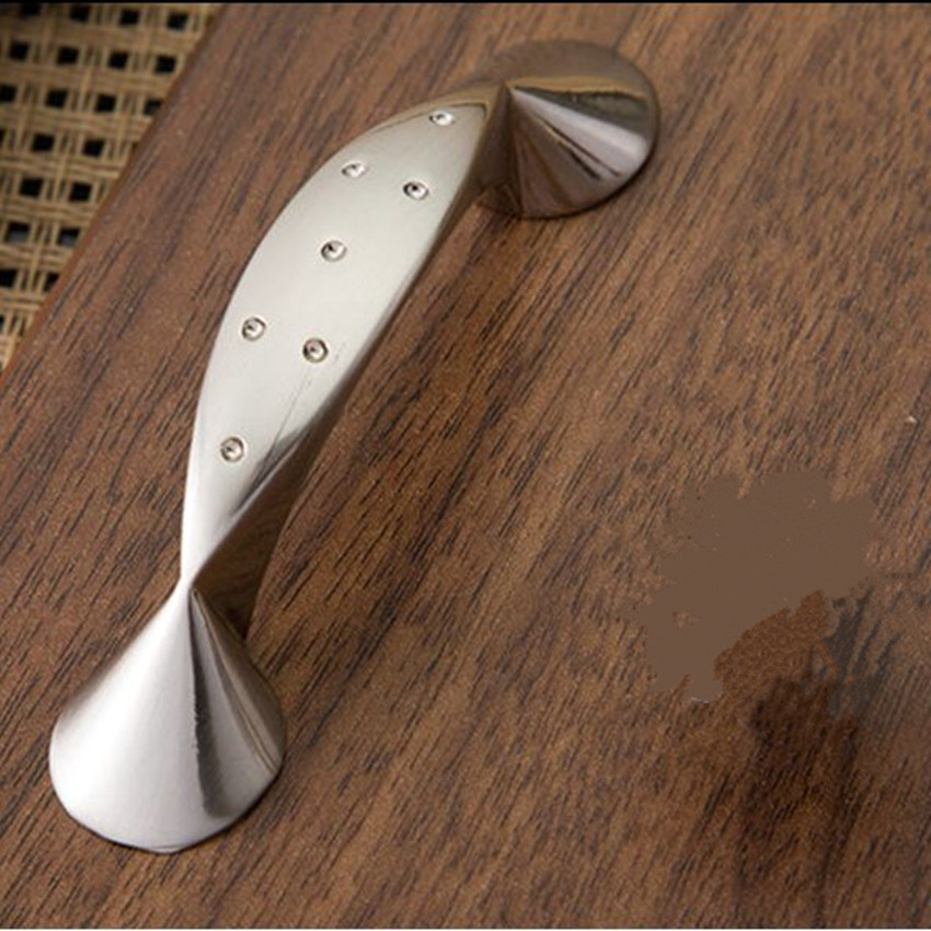 64mm stain silver kitchen cabinet handles stain nickel drawer pull ...