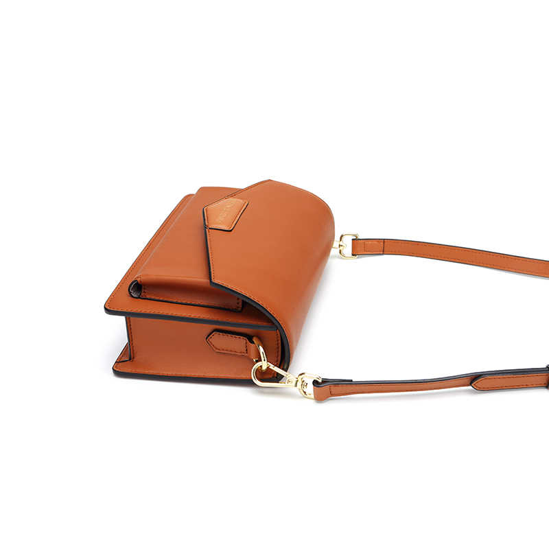 BISONJS kadın flep Crossbody çanta küçük Split deri çanta lüks çanta kadın çanta Vintage omuzdan askili çanta yüksek kaliteli B1591