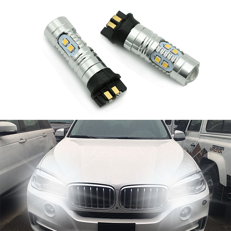 Error free <font><b>PWY24W</b></font> PW24W LED Bulbs for Audi A3 A4 A5 VW MK7 Golf CC Ford Fusion Front Turn Signal Lights BMW F30 3 Series DRL image