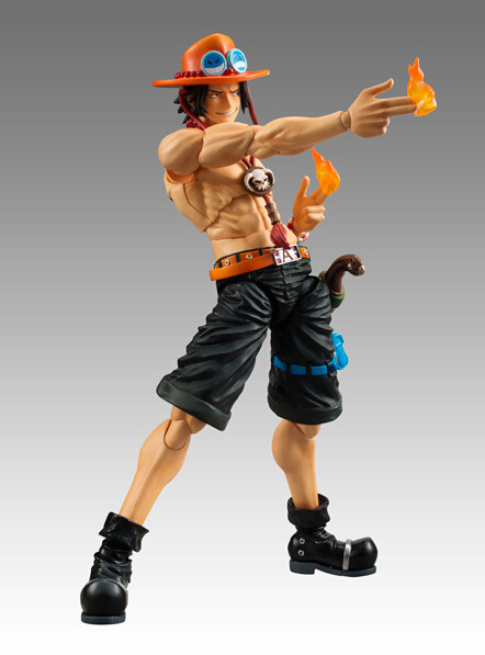 One Piece Figure Ace MH Action Figure 18CM Portgas D Ace PVC Cartoon Figurine One Piece  ...
