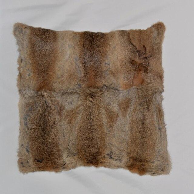 Aliexpress Buy Genuine Rabbit Fur Cushion Cover Real Rabbit Interesting Rabbit Fur Pillow Cover