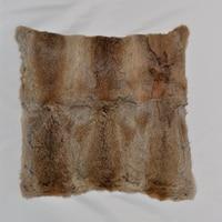 Genuine Rabbit Fur Cushion Cover Real fur Pillow Covers Decorative Pillows Cushions Home Decor Fundas Cojines Housse De Coussin