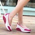 Mujer zapatos casuales 2016 caliente impresión de malla transpirable plataforma zapatos de las mujeres