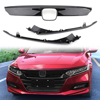 Areyourshop ABS Glossy Black Lip Front Grille Cover Moulding Trim For Honda Accord 2018 2019 Front Grille Cover Car Accessories