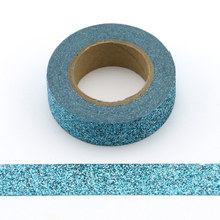 купить 1 roll Glitter Sparkle Washi Tape for Christmas Gift Wrapping Adhesive Masking Decorative DIY Tape (1.5CMx5M) по цене 71.53 рублей