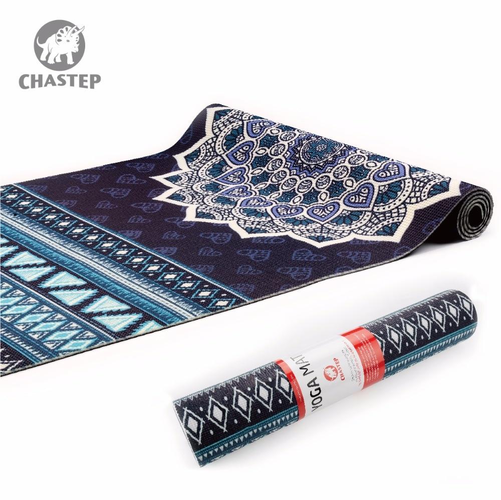 Stuoia di Yoga Naturale 6mm Yoga Pad Tappeto di Fitness Materiale PVC per Esercizio Ginnastica Stuoie Chastep Design Unico Fitness con Lo Yoga borsa