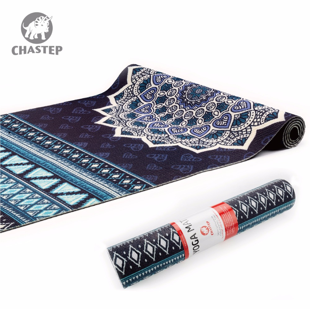 Yoga Mat Natural 6mm Yoga Pads Fitness Mat PVC Material for Exercise Gymnastics Mats Chastep Unique Design Fitness with Yoga Bag gymnastics mat thick four folding panel fitness exercise 2 4mx1 2mx3cm
