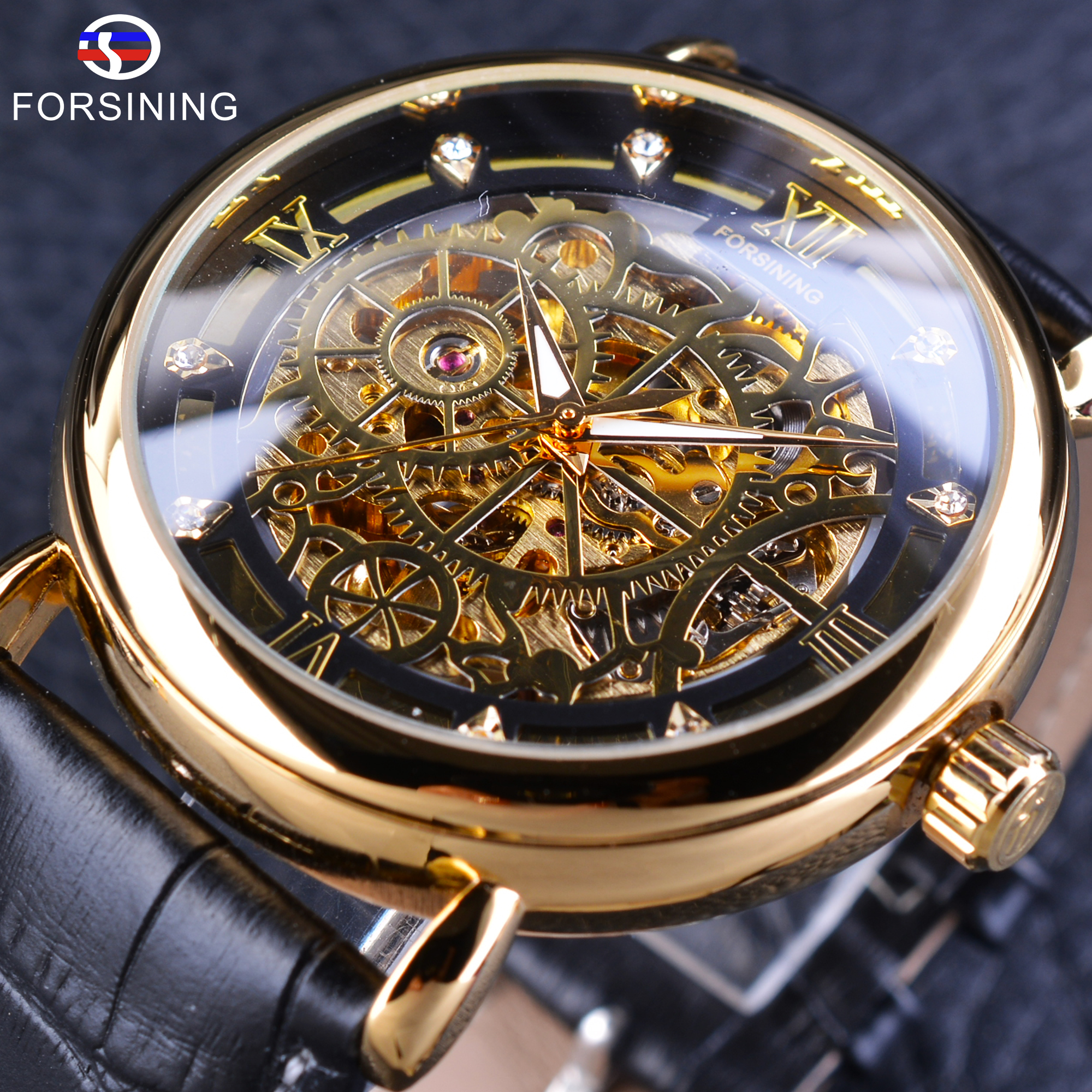 case item watches top luxury in men silver automatic golden wristwatch s transparent brand band bezel forsining skeleton mesh from dial mechanical
