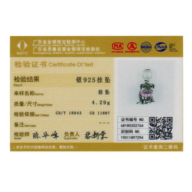 WOSTU 925 Sterling Silver English Bulldog Animal Beads fit Original Charm Bracelet For Women Fashion Jewelry Gift CQC552