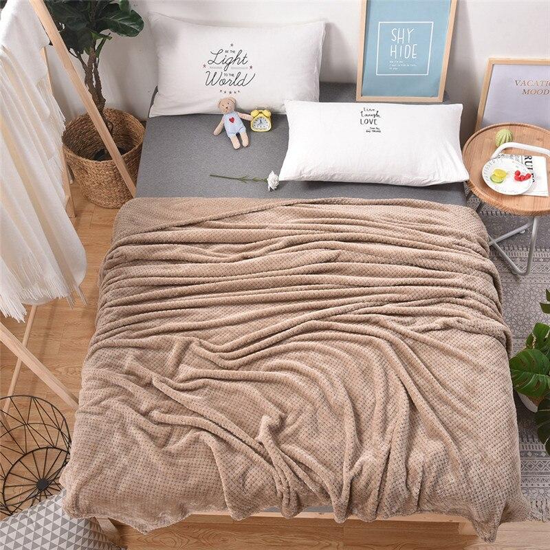 Клетчатое одеяло, плюшевые одноцветные покрывала для дивана, мягкие флисовые одеяла для взрослых, Фланелевое покрывало для дивана 60001