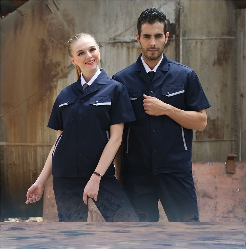(10 Set-Shirt&Pant)uniform Men And Women Worker Labor Protection Clothing Engineering Service Garage Served Half Sleeve Tooling