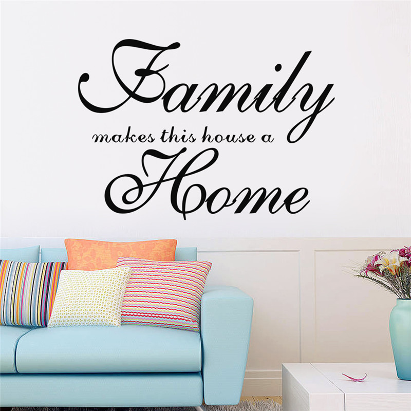 Modern Wall Stickers DIY Removable 8417 Famliy makes our home Children Living Bedroom Letter Warm love Art vinyl Decoration