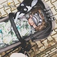 Baby stroller sleeping bag Winter warm sleeping bags Bathrobe for infant stroller envelopes newborn Elodie detail
