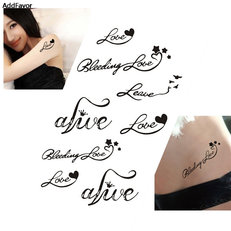 Us 113 37 Offaddfavor 5 Sztuk Serca Listy Miłosne Wzory Kobiety Wodoodporne Tymczasowe Tatuaże Naklejki Diy Ciała Narzędzia Artystyczne
