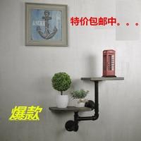 LOFT American country style furniture , wrought iron wall shelf bookcase shelf art exhibition shelf water separator