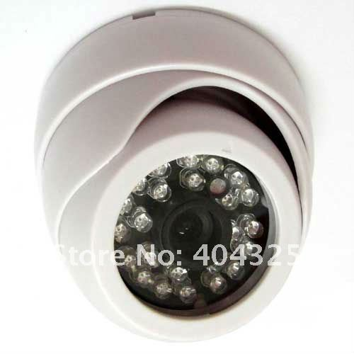 ФОТО 1 3 420TVL Sharp CCD Color CCTV Indoor Dome Security Wide Angle Camera with 36mm lens 24 IR LEDs