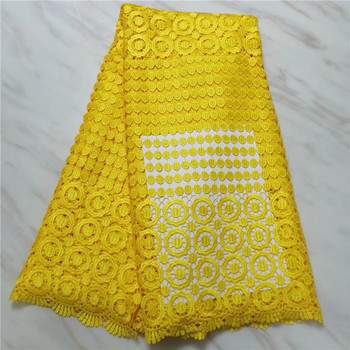 yellow New Arrival High Quatily Multi color water soluble lace African Cord Lace Fabric Guipure Lace Fabrics For Women party(16L