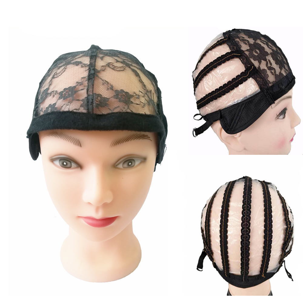 Lace Wig With Weft Back Wig Cap Adjustable Straps Wig Cap For Making Wigs 10pcs