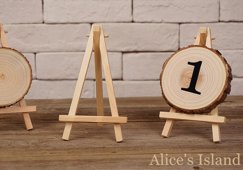 12pcs Lot Mini Display Miniature Easel Wedding Table Number Place Name Card Stand 16 9cm