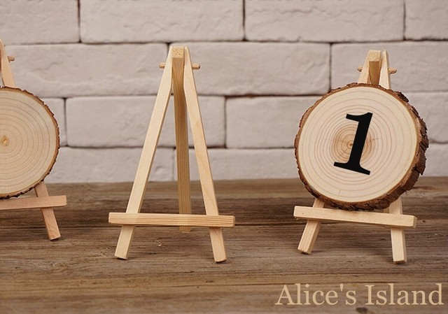 12pcs Lot Mini Display Miniature Easel Wedding Table Number Place Name Card Stand 16