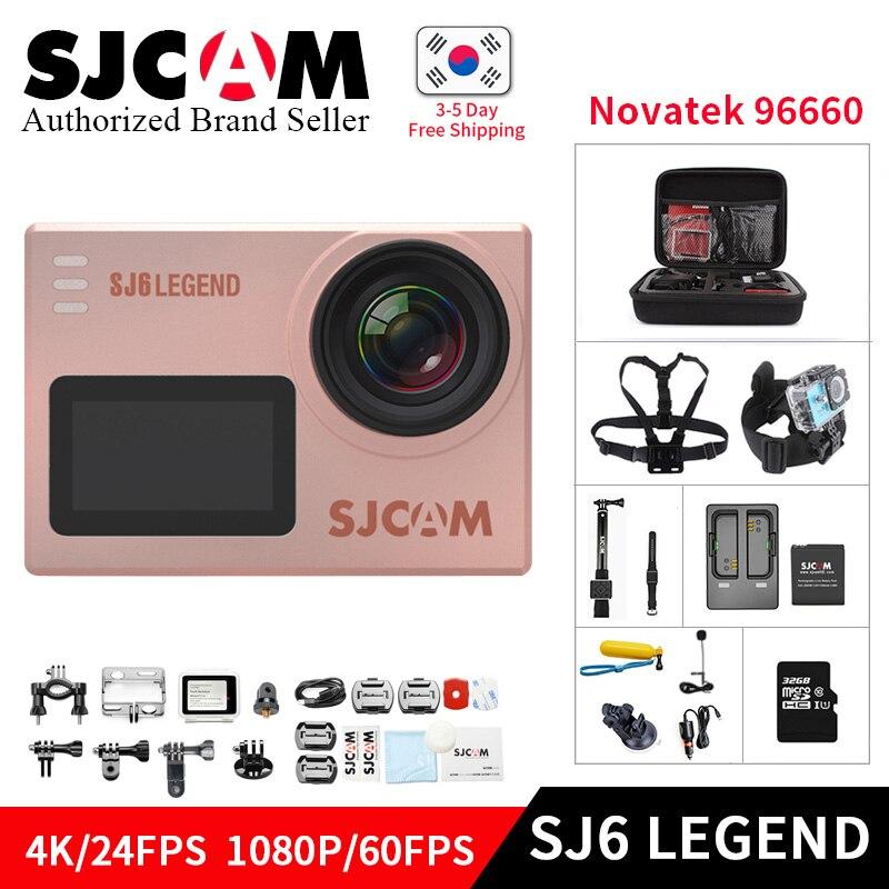 SJCAM SJ6 Legend Novatek96660 Gyro 4 K Ultra HD caméra d'action WiFi télécommande Action vidéo caméra 16MP étanche sport Camara