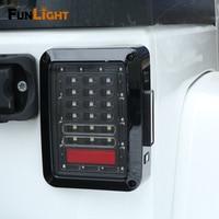 LED Tail Light Clear Lens For 07 17 Jeep Wrangler JK JKU Rubicon Sahara Rear Light