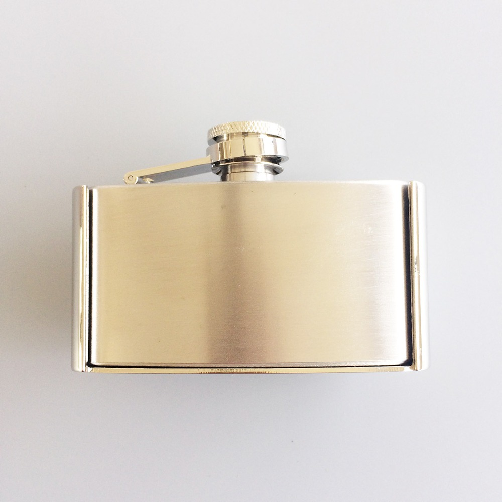 Retail Belt Buckle (Classic Stainless Steel 3oz Flask) BUCKLE-FL001 3oz Flask Belt Buckle  Free Shipping Also Stock In US