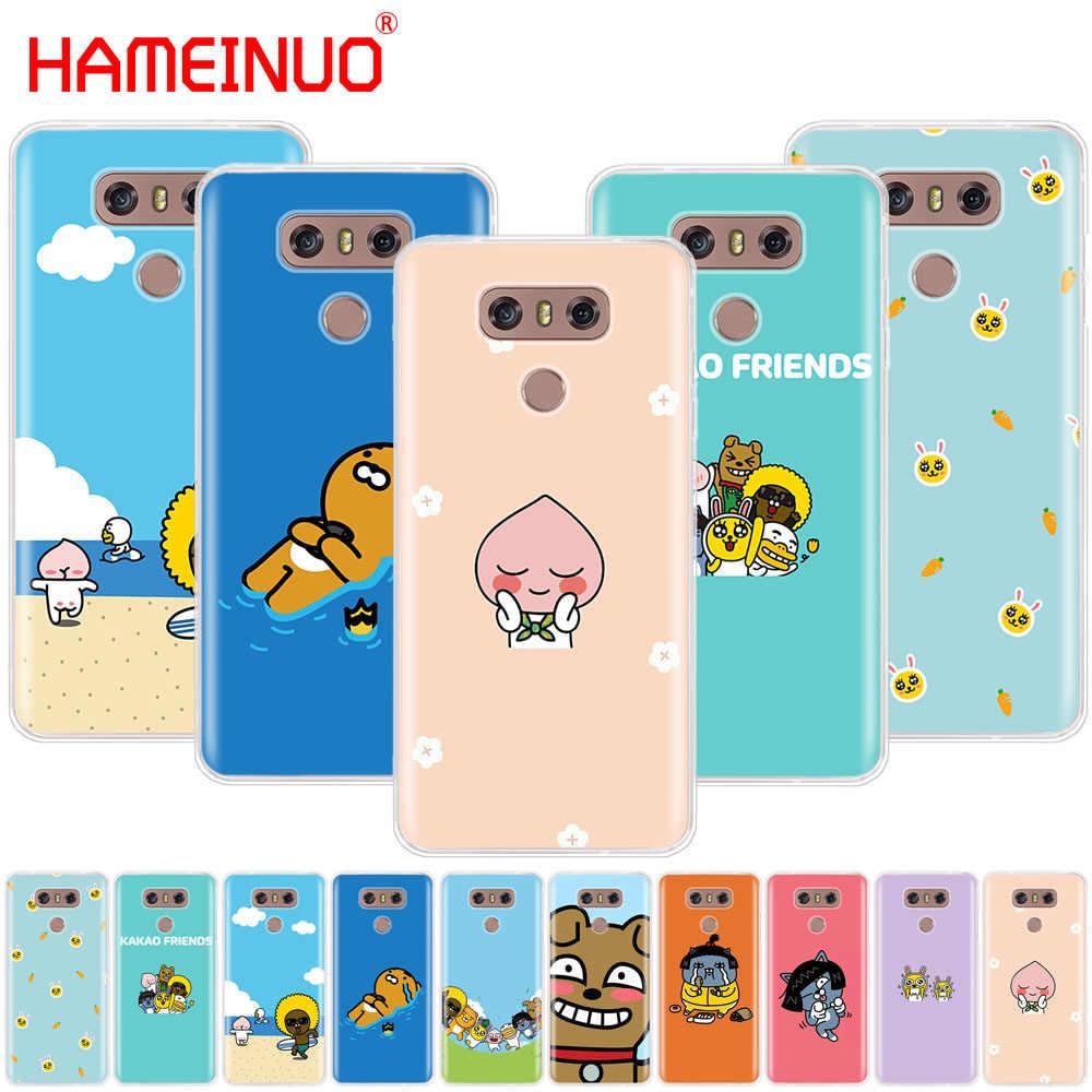 HAMEINUO какао talk друзья чехол телефона для LG G7 Q6 G6 мини G5 K10 K4 K8 2017 2016 X POWER 2 V20 V30 2018