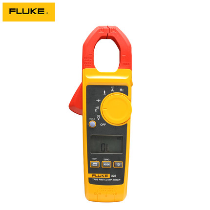 New Fluke 325 True-RMS Clamp Meter 40.00A 400.0A Fluke325 fluke f302 1 6 lcd ac clamp meter yellow red 3 x aaa