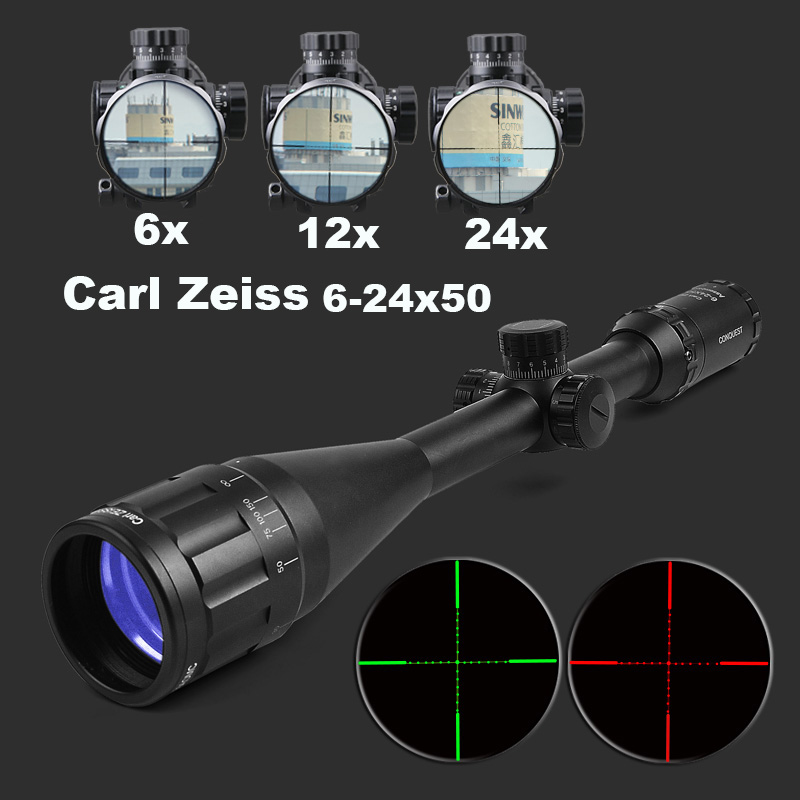 Carl Zeiss 6-24X50 Optics Rifle Scope Etched Glass Tactical Riflescope Hunting Scopes Sniper Scope For Airsoft Air Guns carl zeiss 5 25x50 ffp optics riflescope side parallax tactical hunting scopes rifle scope mounts for airsoft sniper rifle