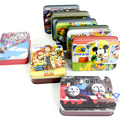 D596 Free shipping small tin box cartoon paper puzzles Thomas children cardboard jigsaw puzzle many optional