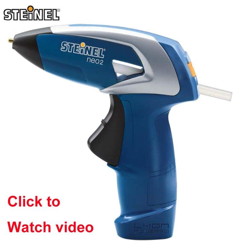 Allemagne STEINEL NEO2 Portable Rechargeable sans fil thermofusible colle pistolet Handwork réparation outil artisanat pour enfants et 3 bâtons