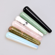 11cm Natural Massager Wands Crystal Jade Face Roller Stick Magic Yoni Wand Slim Guasha Tool Stone Carved  Massage & Relaxation