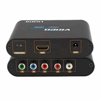 New HD component video YPbPr and Audio R/L to HDMI Converter 1080P With Retail Color box package
