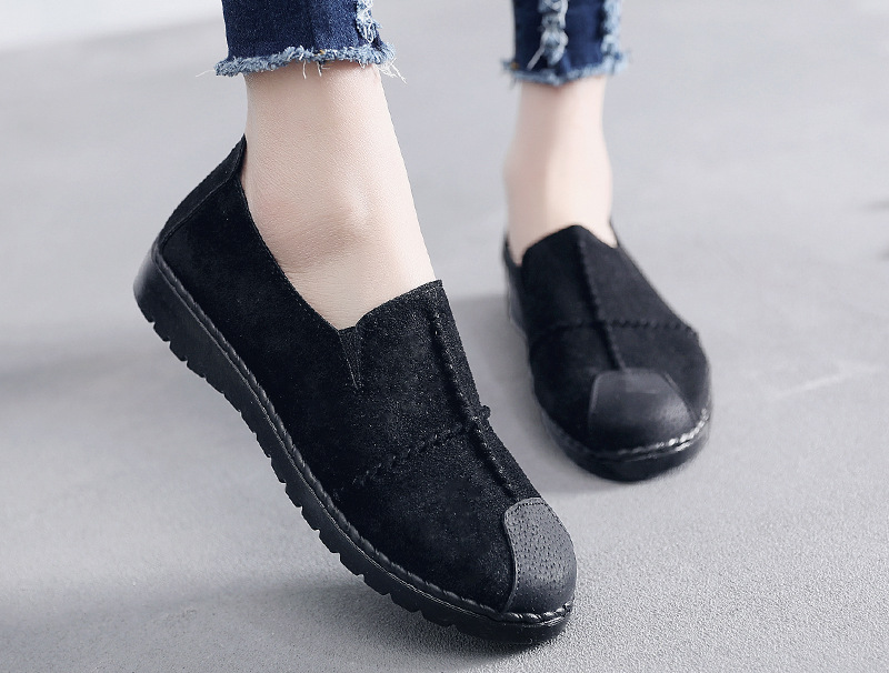 Plus Size Summer Women Flats Fashion Splice Flock Loafers Women Round Toe Slip On Leather Casual Shoes Moccasins New 2019 VT209 (23)