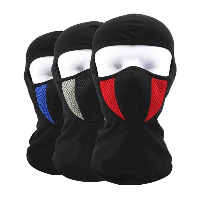Motorcycle mask Riding Racing Ski cap full cotton Wind-proof Warm Suncreen Headgear CS Tactical Flying Hood dust cap liner