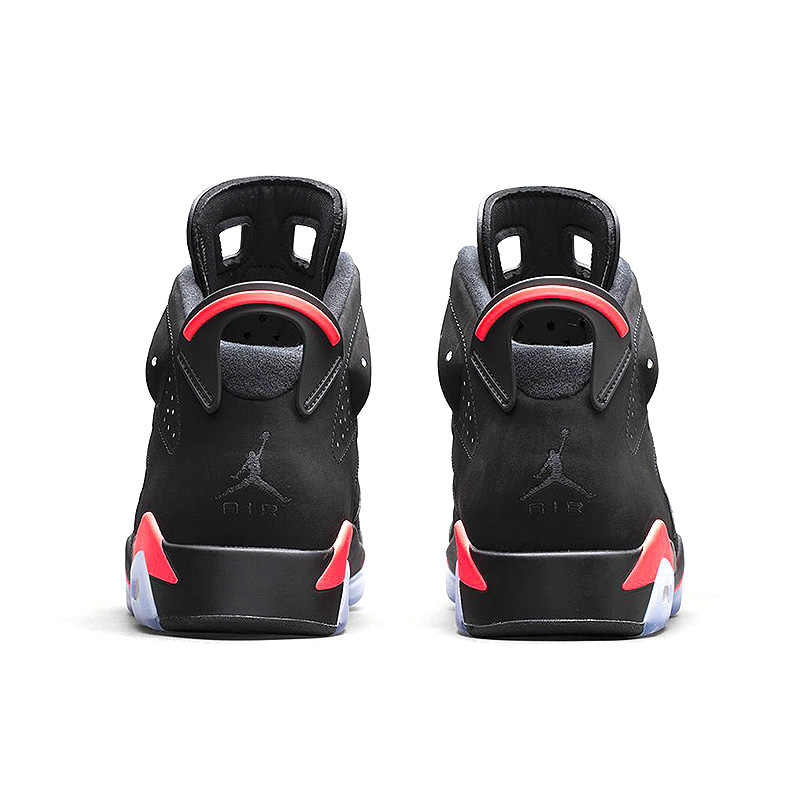 nouveau style 4d00f 1f4a1 Nike Air Jordan 6 Black Infrared AJ6 Men Basketball Shoes, Black & Red,  Shock Absorption Anti-Slip Support Balance 384664 023