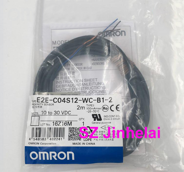 E2E-C04S12-WC-B1-2 Authentic original OMRON Proximity switch, Proximity sensor 2M [zob] proximity switch e2e x4md2 2m