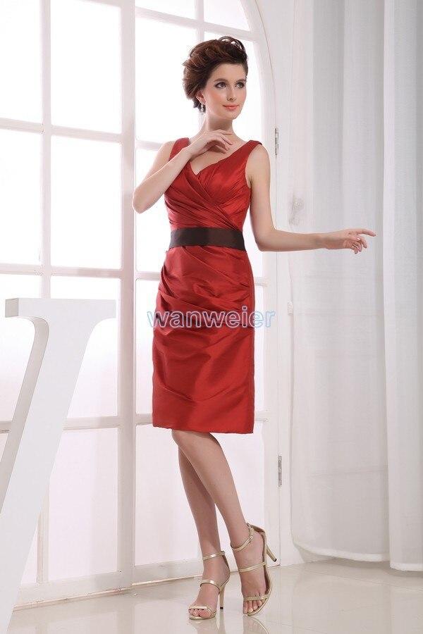 Livraison gratuite robe pour la partie 2016 noir ceinture robe formelle nouveau design domestique de jeunes mariées robe robes formales courte rouge de bal robes