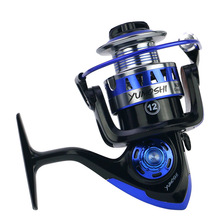 Yumoshi  Fishing Reel 13+1 BB Ball Bearings Type Alloy Line Cup Wheel for Saltwater 5.2:1 Spinning KP1000 -7000