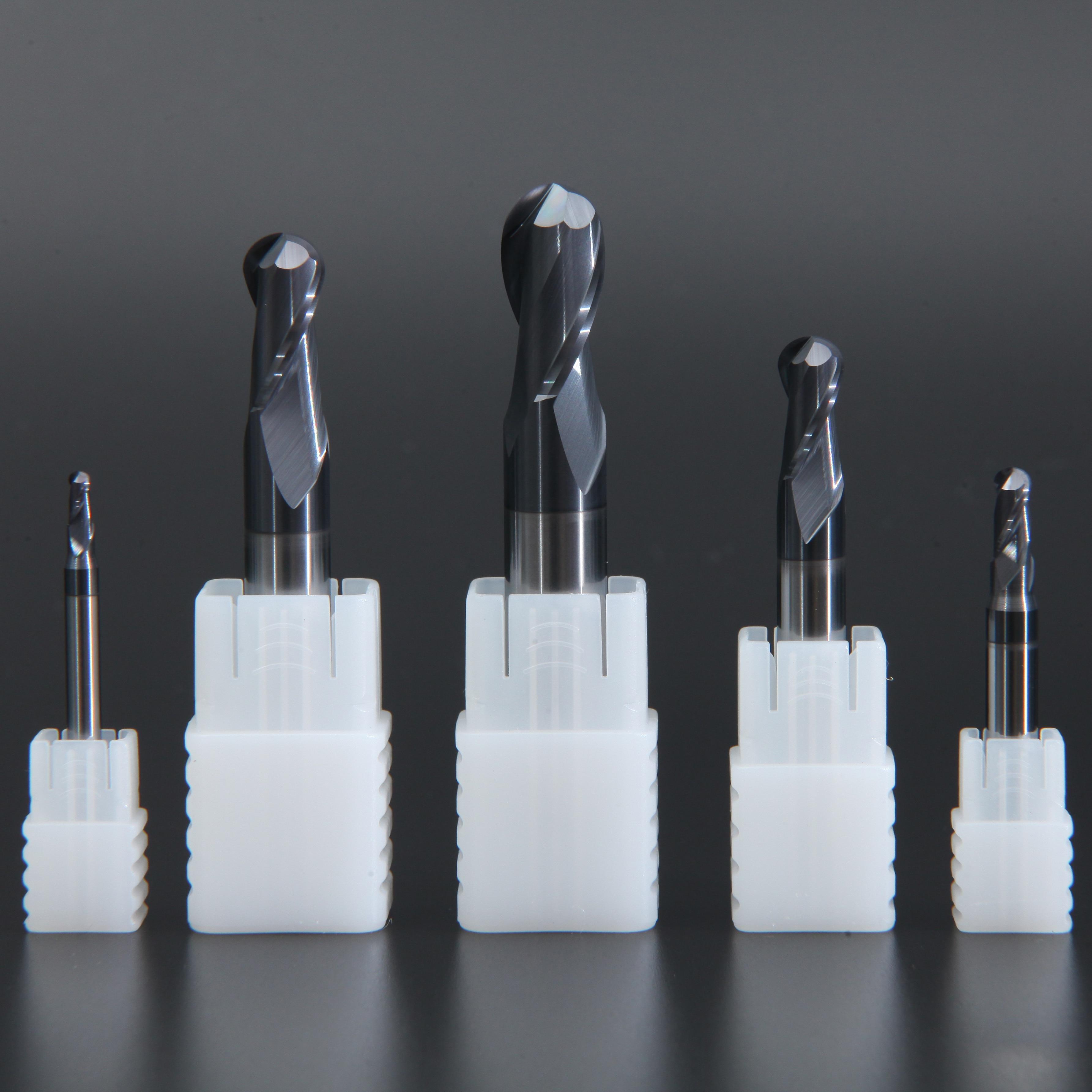 LIJUN 2 flutes 6mm~20mm Solid Carbide Ball Nose End Mills CNC Milling Cutter HRC58 Tungsten Steel