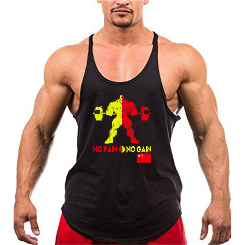 Muscleguys Brand Hulk gyms   tank     top   bodybuilding stringer singlet men no pain no gain fitness clothing Y back sleeveless shirt