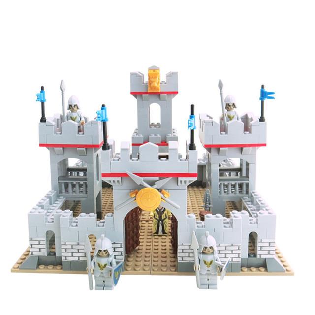Shirly 686 unids Super Knight Compatible con juguetes de Bloques de Construcción del Castillo Castillo Rey de Educación juguetes de los Ladrillos de regalo de cumpleaños de la Muchacha