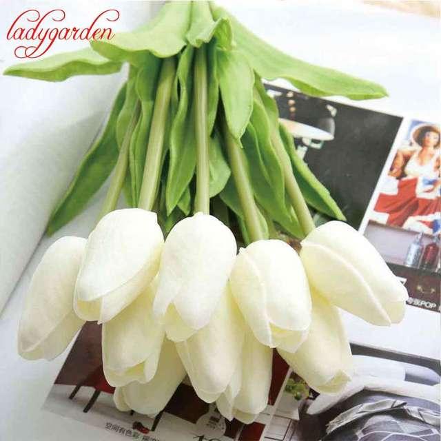 Sztuczne Tulipany Fałszywe Kwiaty Pu Flores Artificiales Para Decora