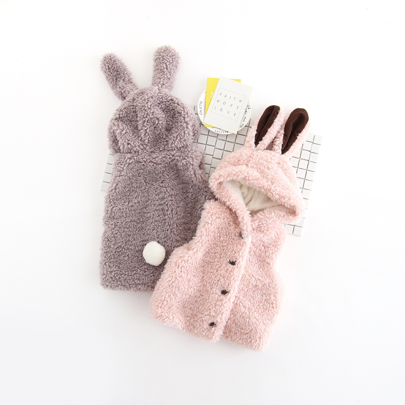 Children Clothing Outerwear and Coats 2017 New Autumn Baby Girl Clothes Sleeveless Cute Rabbit Ear Hooded Vest for Grils Jackets mint green casual sleeveless hooded top