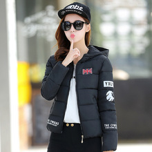 2017 winter-autumn cotton short basic jacket women hooded warm casaco down&coat warm manteau hiver femme slim fit jackets&coats