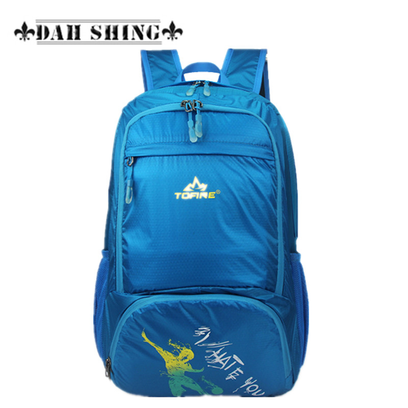 Large capacity Ultra-light folding waterproof Nylon women backpack double-shoulder mountaineering bag travel bag zipper closure strong oxygen gazelle 26l backpack outdoor light breathable mountaineering bag double shoulder sport bag