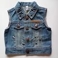 Denim Vest Children Denim Vest Coat For Boys & Girls Fashion Rivet Waistcoat For Spring And Summer autumn 2016 Boys Waistcoat