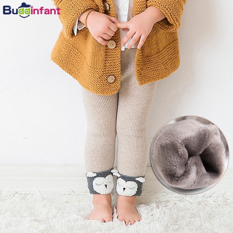 Baby Winter Leggings With Fleece Velvet Leggins Baby Girl Warm Pants For Infant Girl Knit Legins Bebe Toddler Baby Boy Trousers
