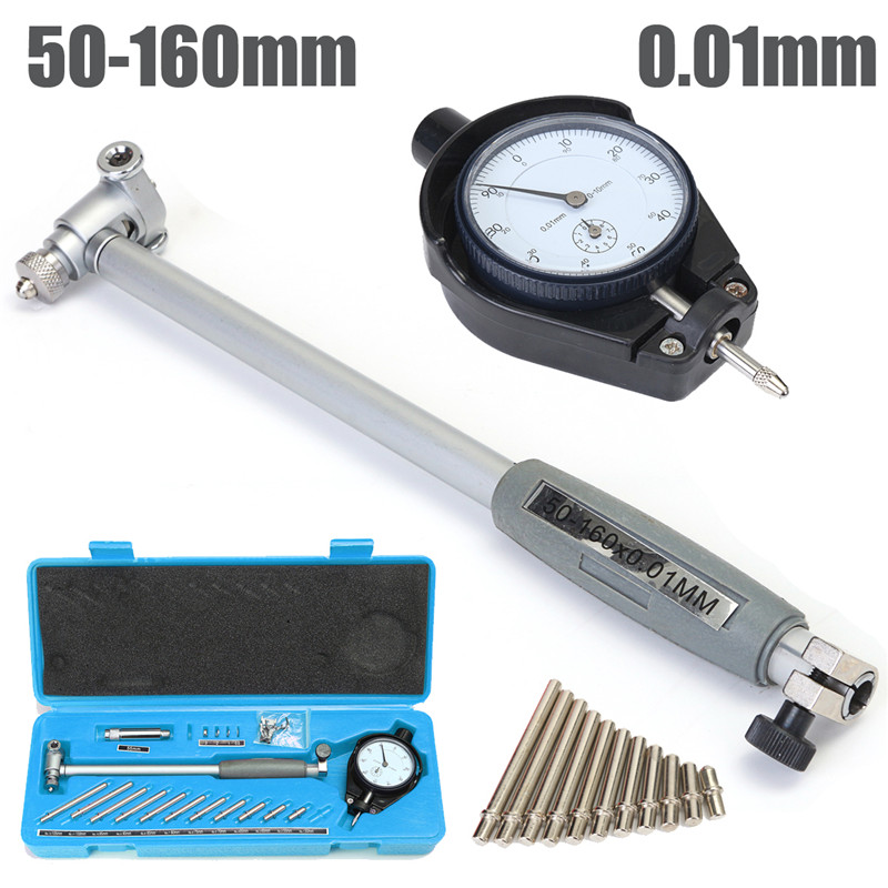 50-160MM Dial Bore Gauge Indicator Grad 0.01mm Diameter Indicators Engine Cylinder Precision Measuring Test Tools Blue Meter цена